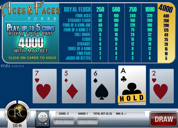 Play online casino royal club video poker